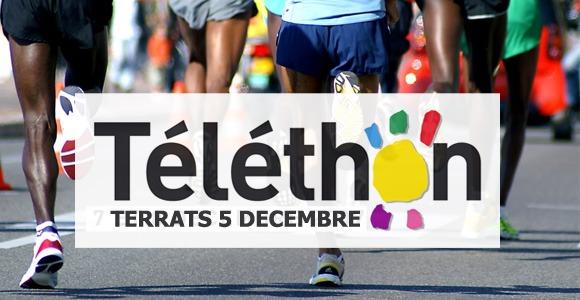 Le jogging du Téléthon à Terrats en présence de Dominique Chauvelier